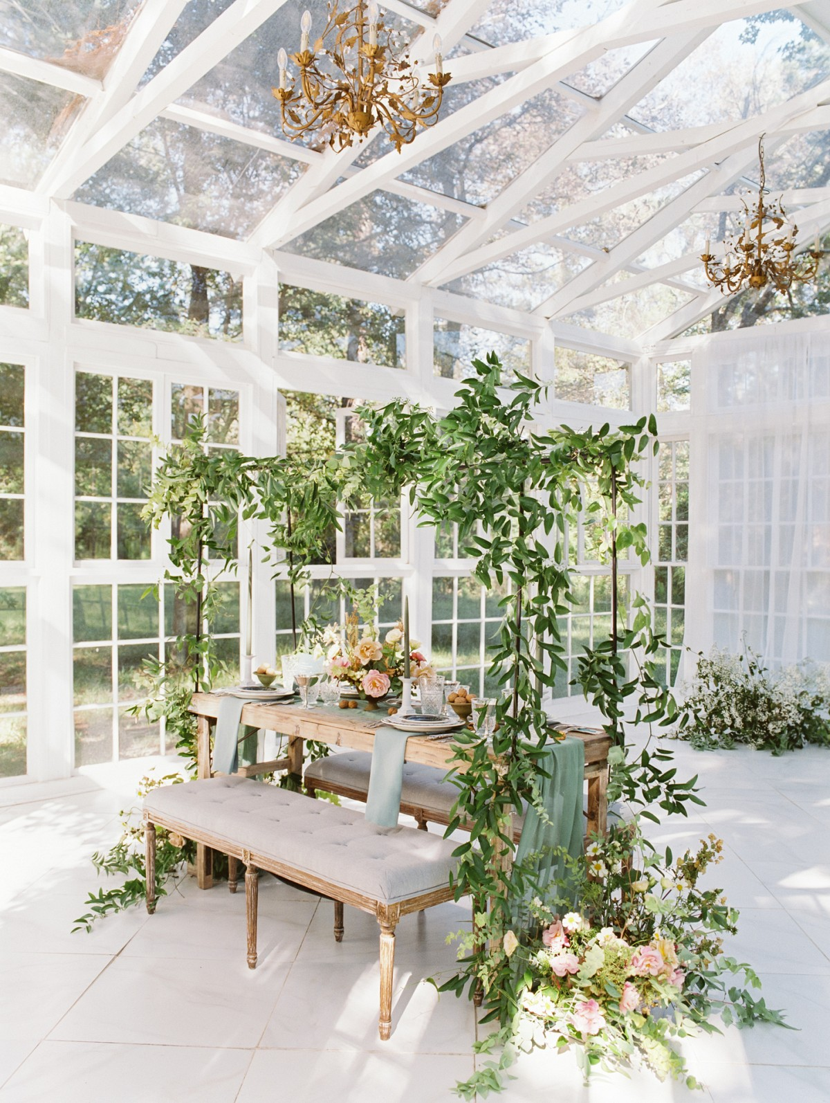 Autumnal Vow Renewal in Stunning Glasshouse