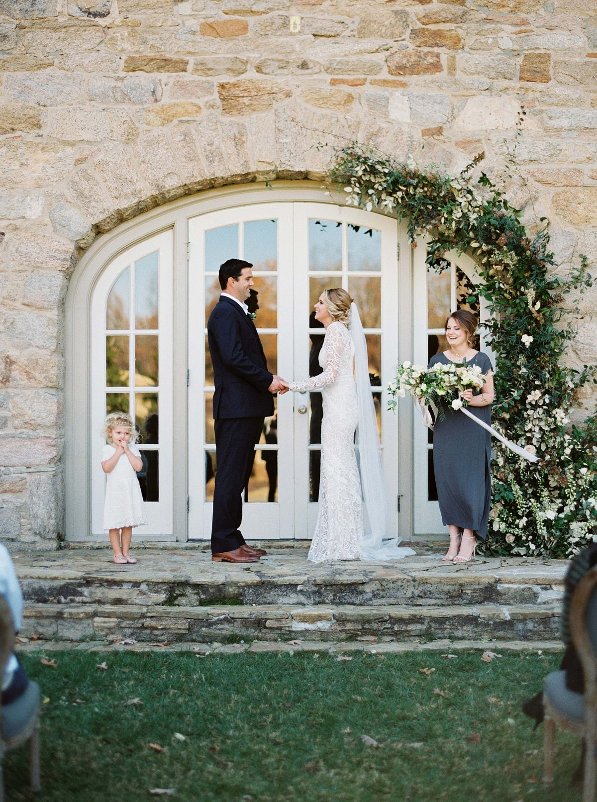 Romantic Garden Wedding Inspiration in a Lace Dress