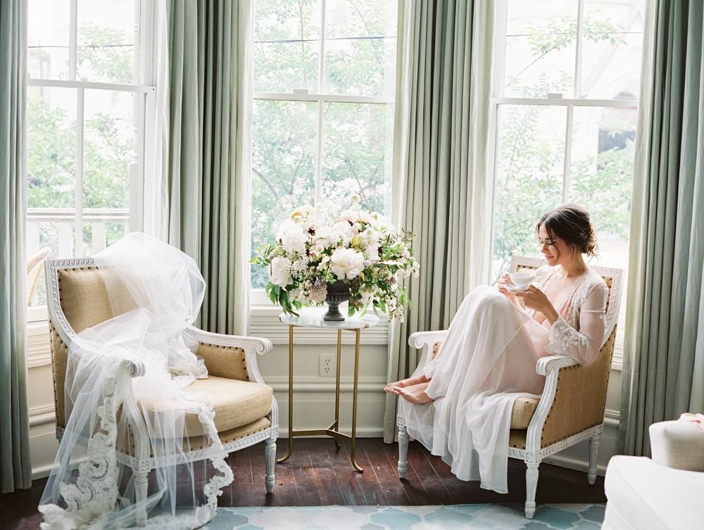 Wedding Morning Boudoir Portraits at Home