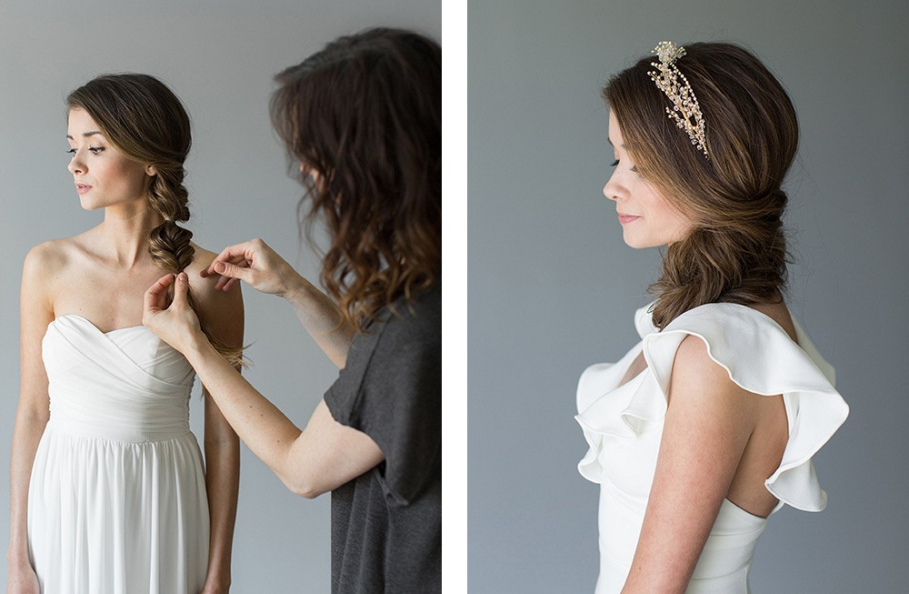 Three bridal hairstyles that we love | Wedding Sparrow fine art wedding blog
