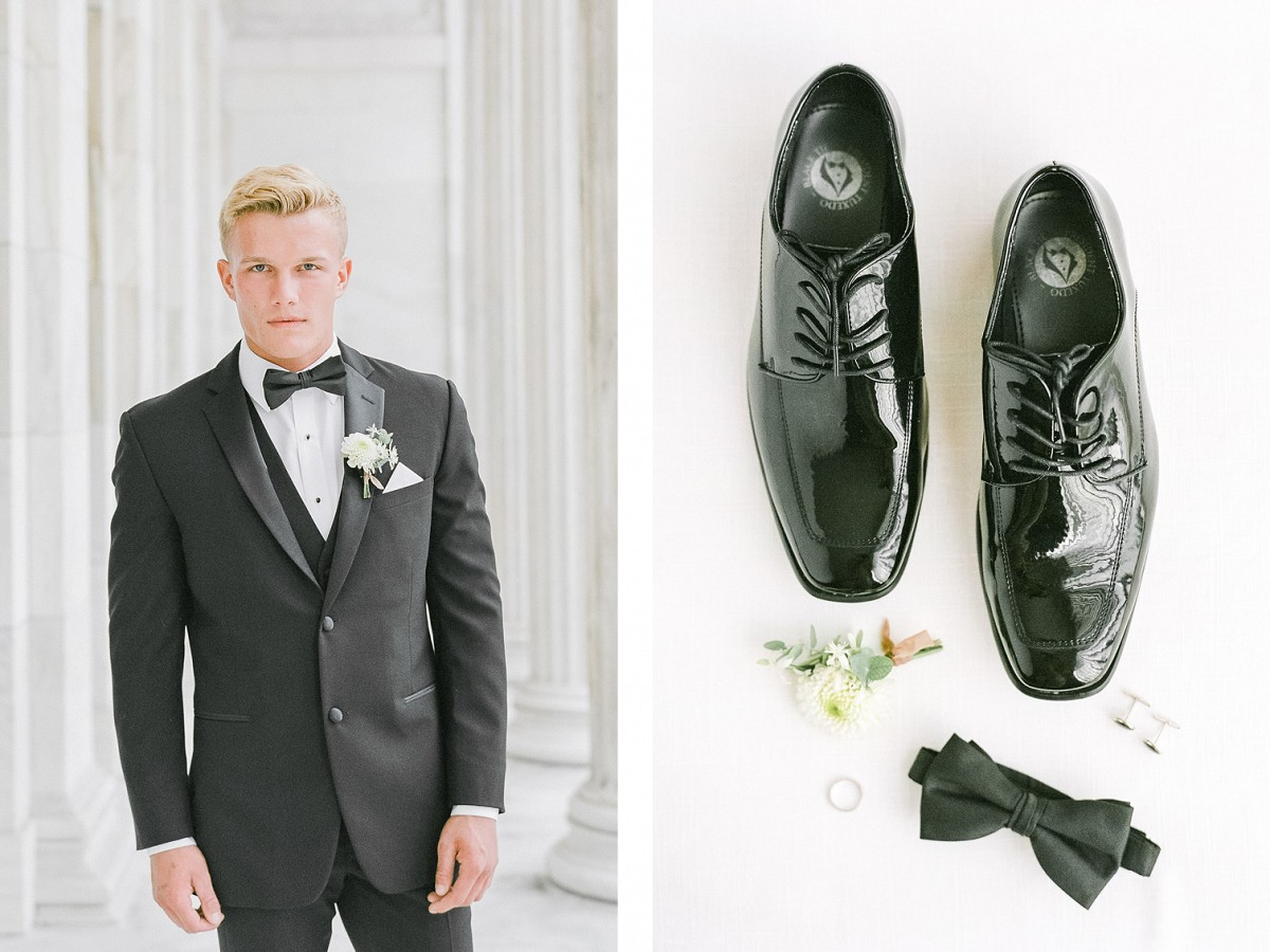 Black Tie Art Museum Wedding Style with Pronovias Gown
