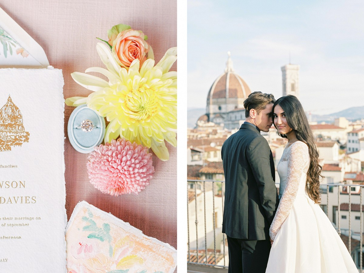 Bold & Colorful Rooftop Wedding Ideas