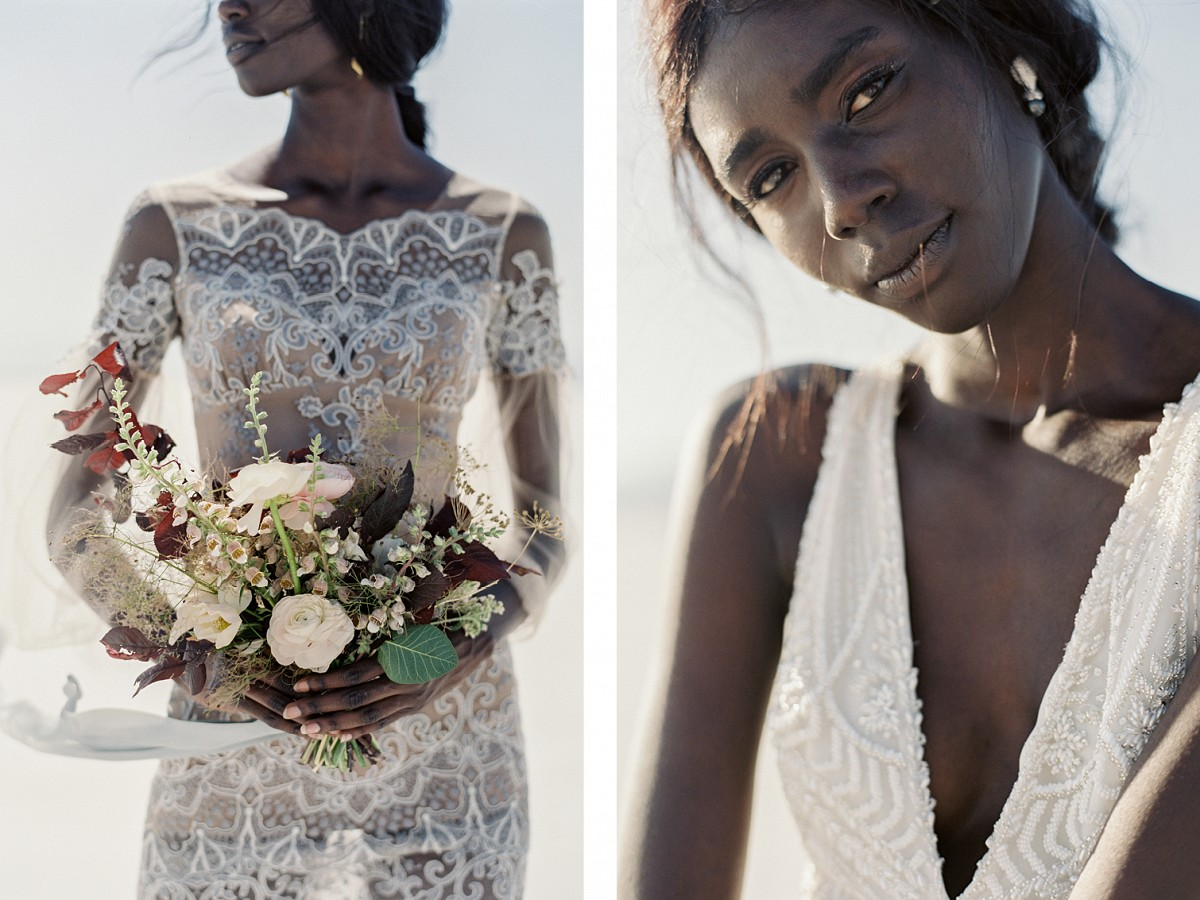 Salt Flats Bridal Inspiration with Oscar de la Renta and Berta Dresses