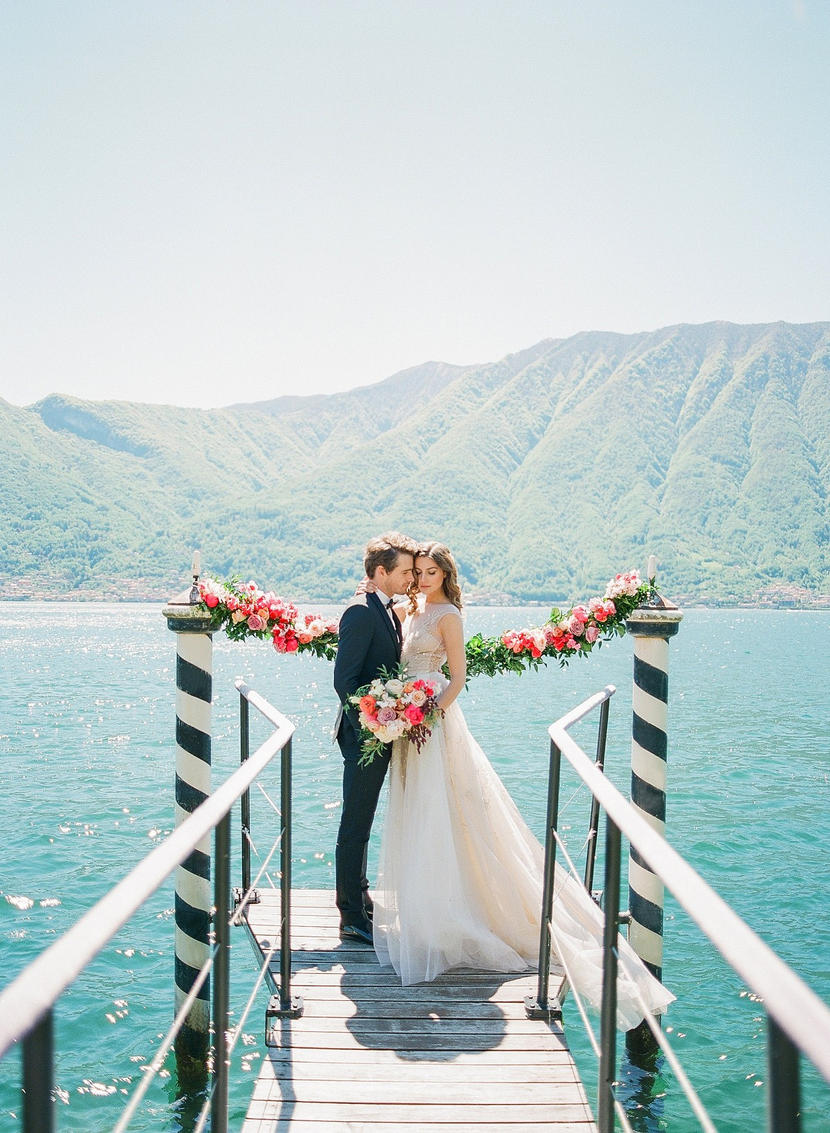 Vibrant, Colorful Wedding Inspiration at a Lakeside Italian Villa