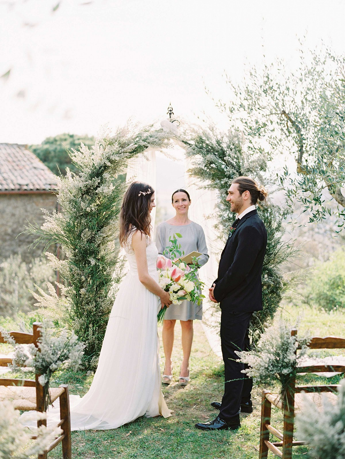 Tuscan Elopement with Natural Greens and Organic Details