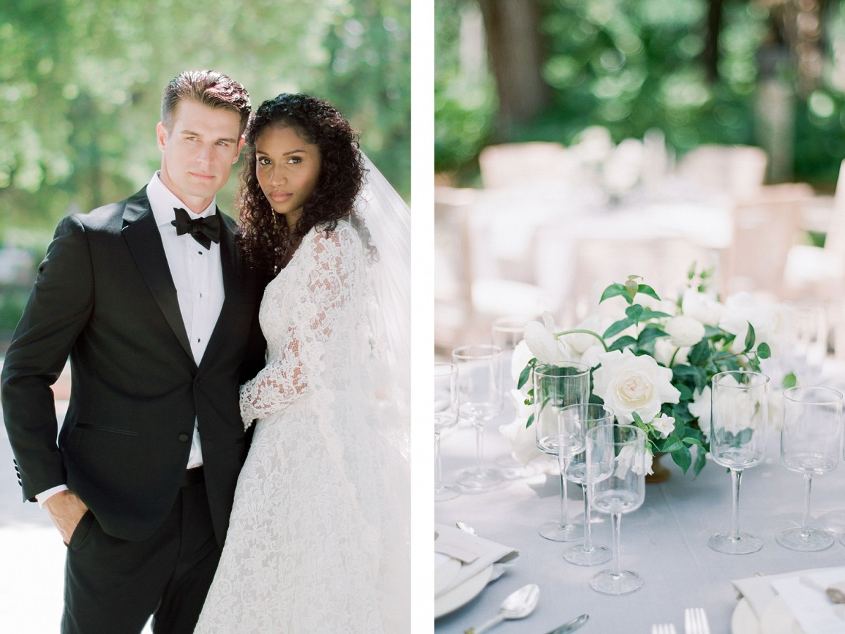 Deep Green & Gold Details in this Wedding Editorial at Vizcaya