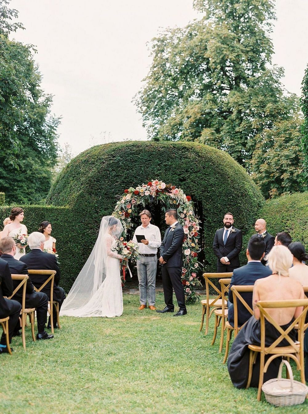 Ven and Adrian's Garden Wedding in France