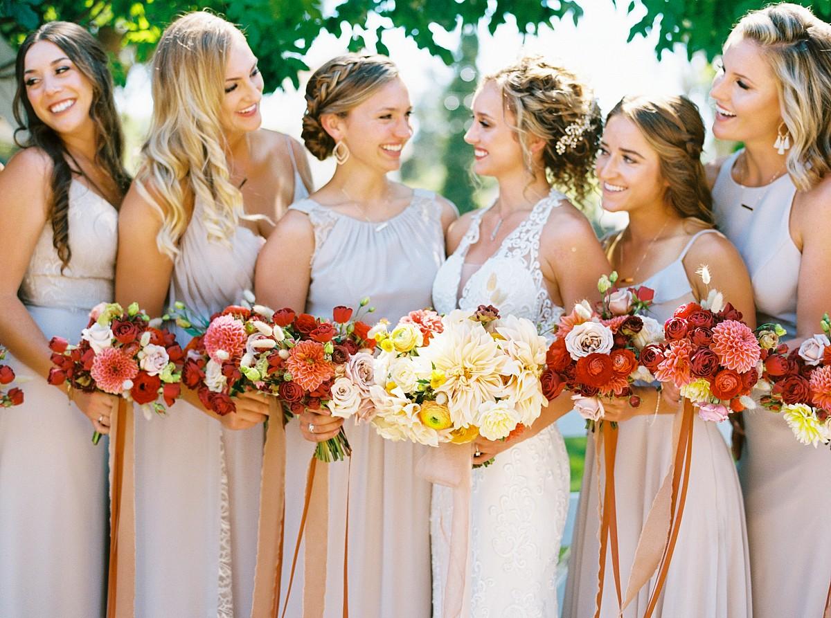 champagne color bridesmaids dresses