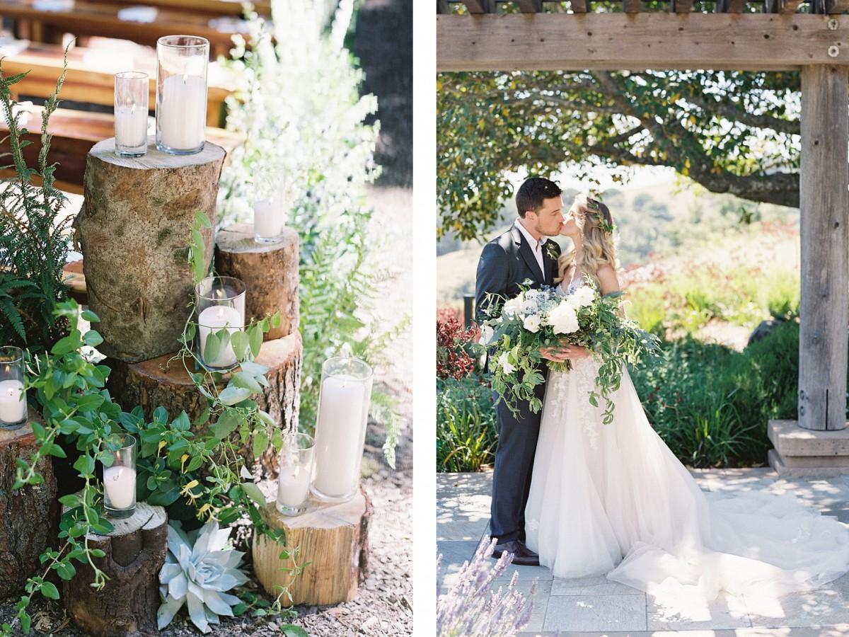 Relaxed coastal woodland wedding in Big Sur
