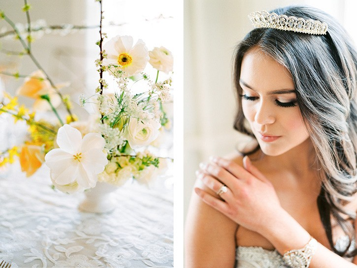 Summer Wedding Inspiration with pops of Yellow