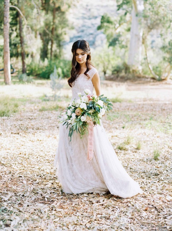 Delicate and Demure Woodland Bridal Session by Ace & Whim Photography on Wedding Sparrow