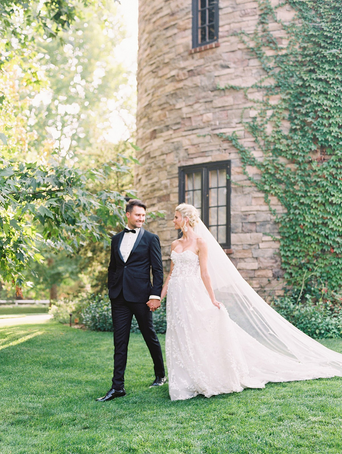Californian Elopement with Marchesa Gown