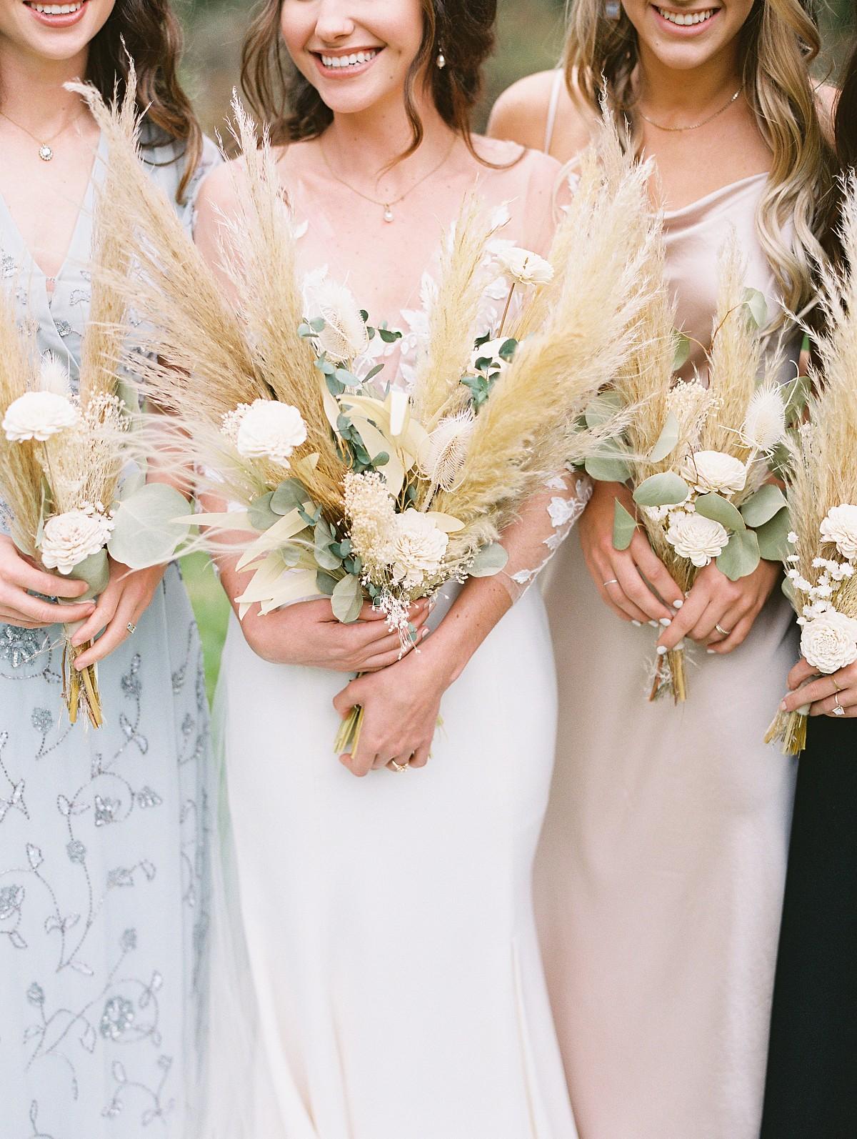 dried fall wedding bouquet