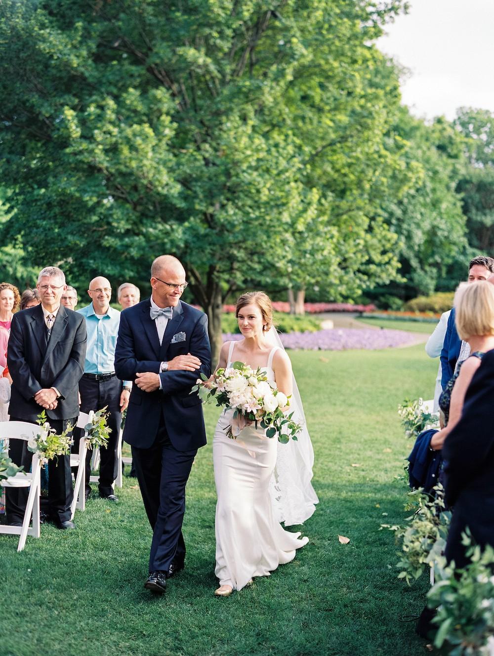 Claire and Chris' Patriotic Dallas Arboretum Wedding