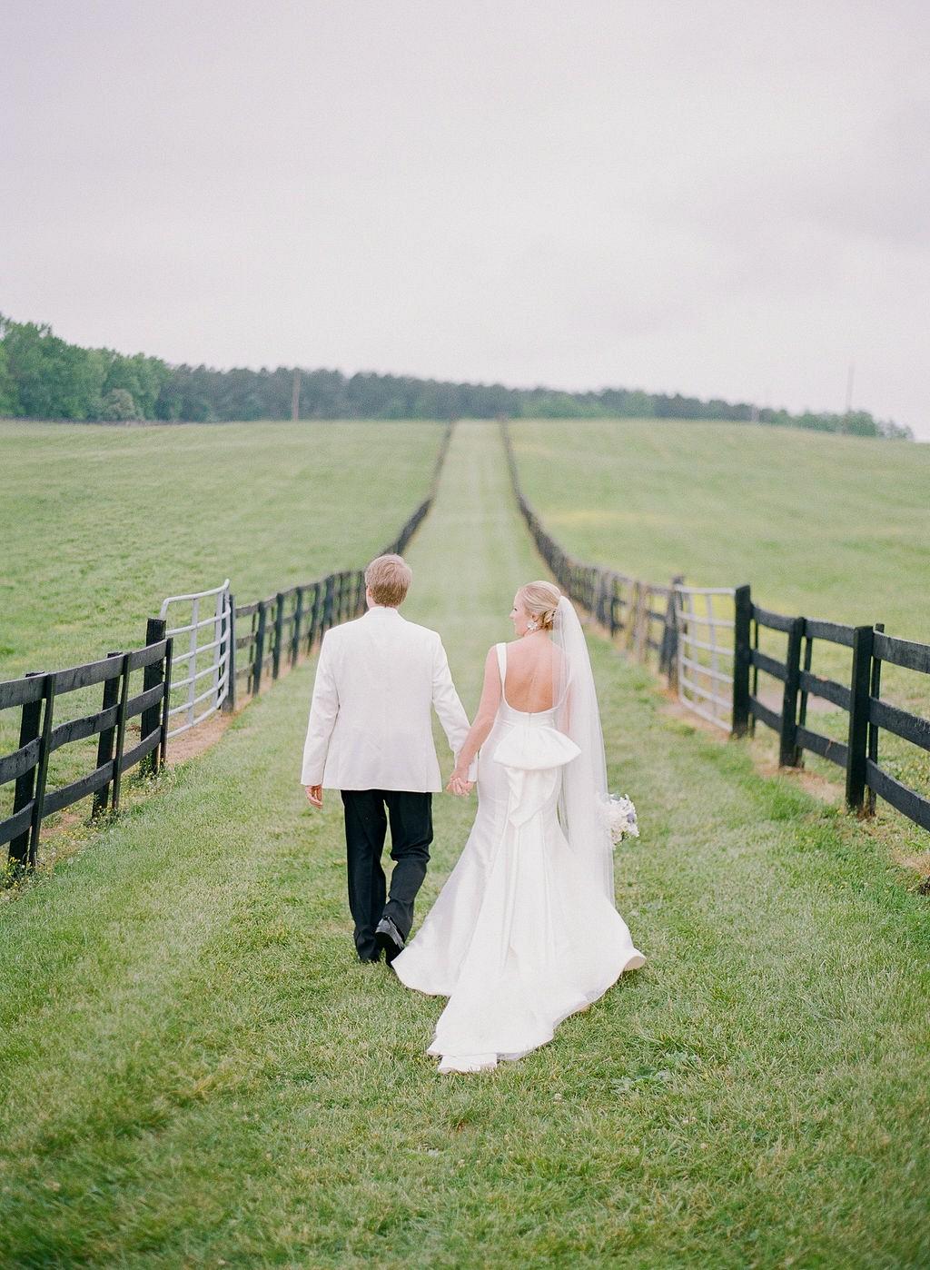 Periwinkle Blue and White Theme Farm Wedding