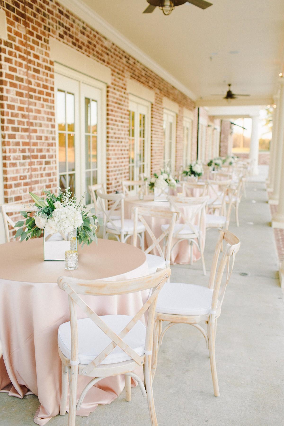 Caroline and Arthur's outdoor blush wedding