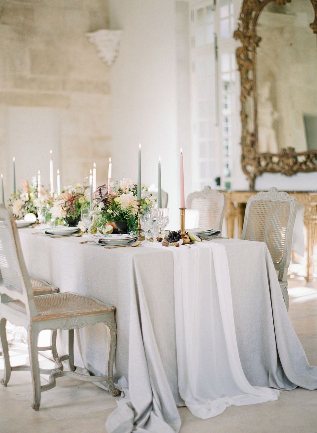 A Baroque Inspired Wedding Editorial based on a French painting