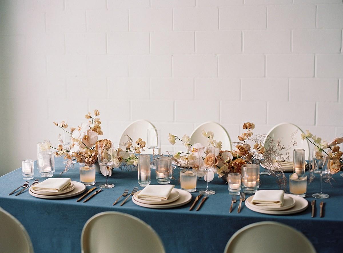 Winter Wedding Looks with a Deep Blue Edge