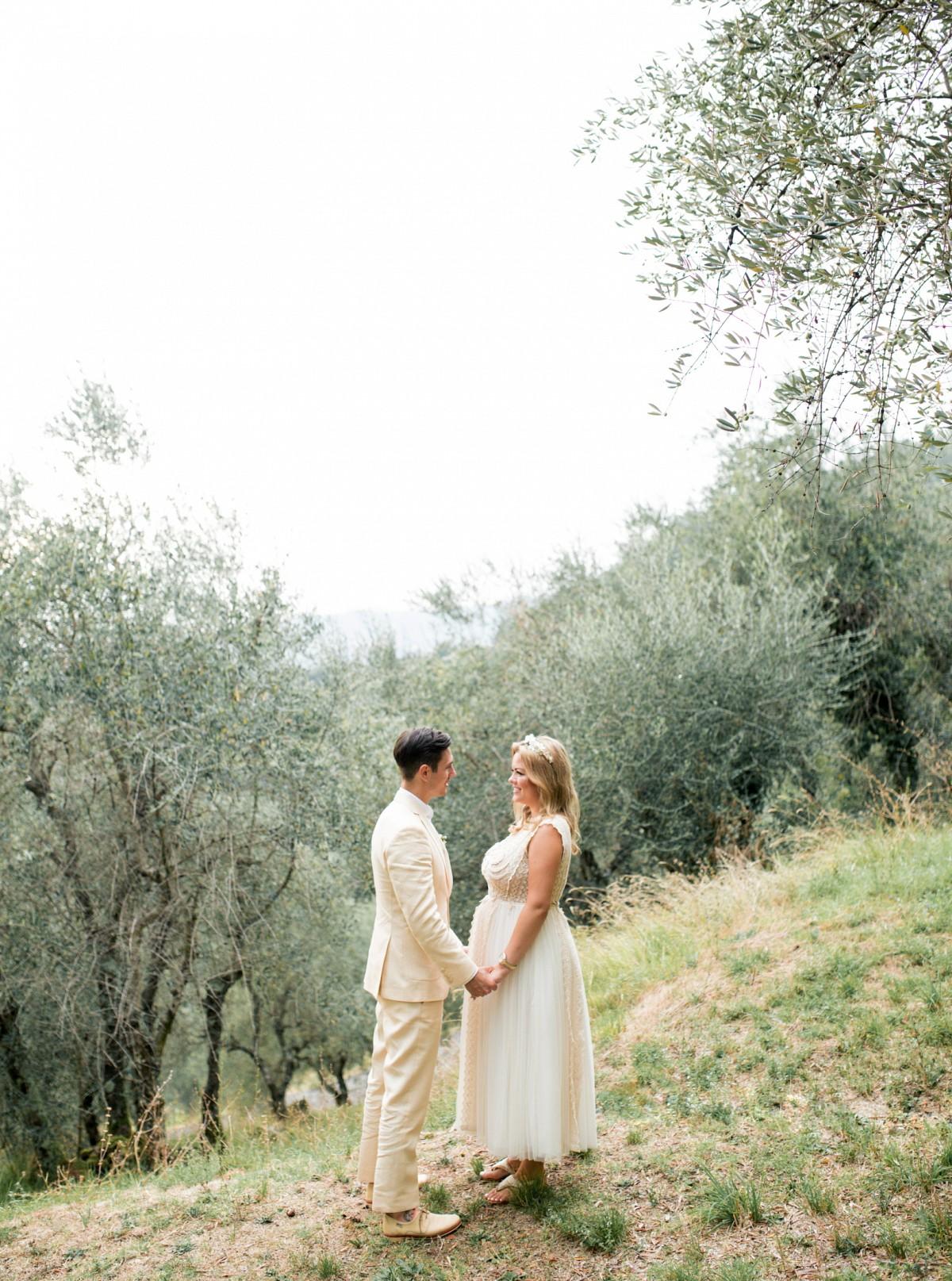 Tuscany Villa Wedding with Rustic Florals