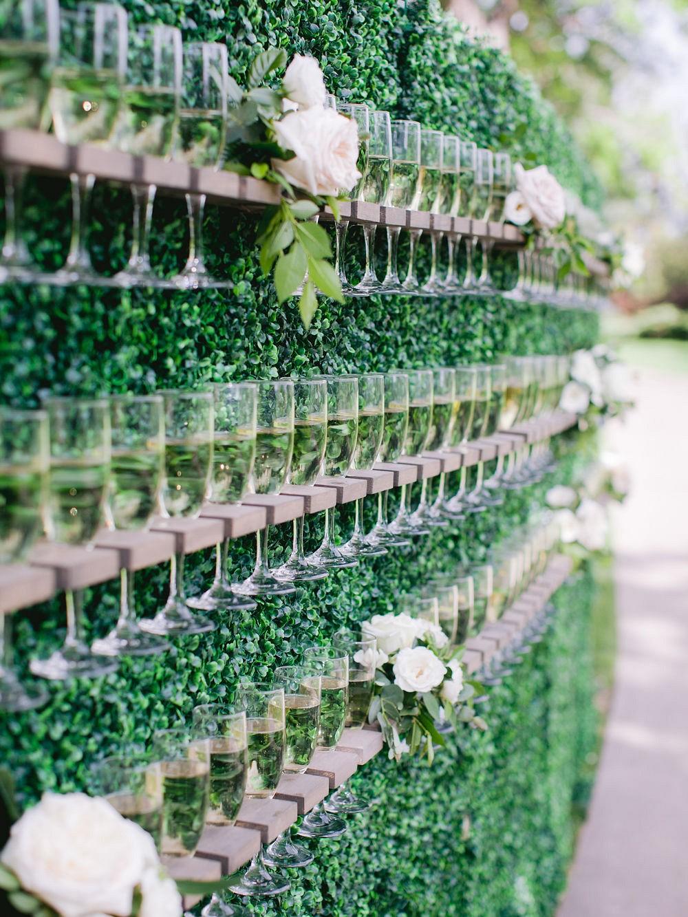 Elegant Colorado Wedding with Champagne Wall Reception