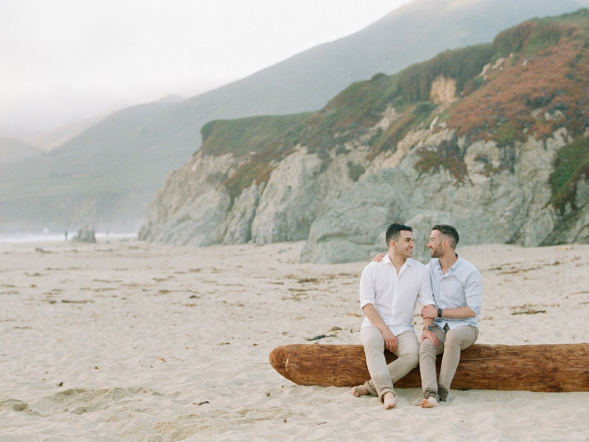 Sweet engagement shoot with Super 8 film in Big Sur