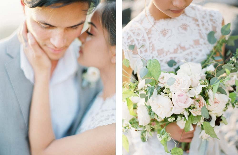 Emotional Seaside Couples Session by Shannon Moffit Photography | Wedding Sparrow