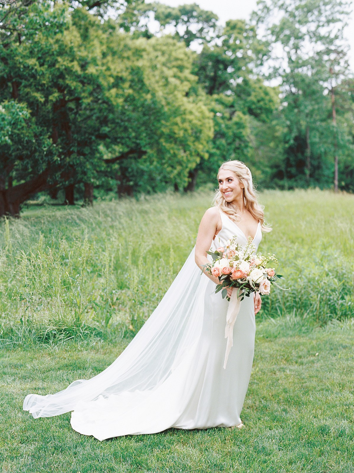 Relaxed Ohio Estate Wedding with Coral Peonies