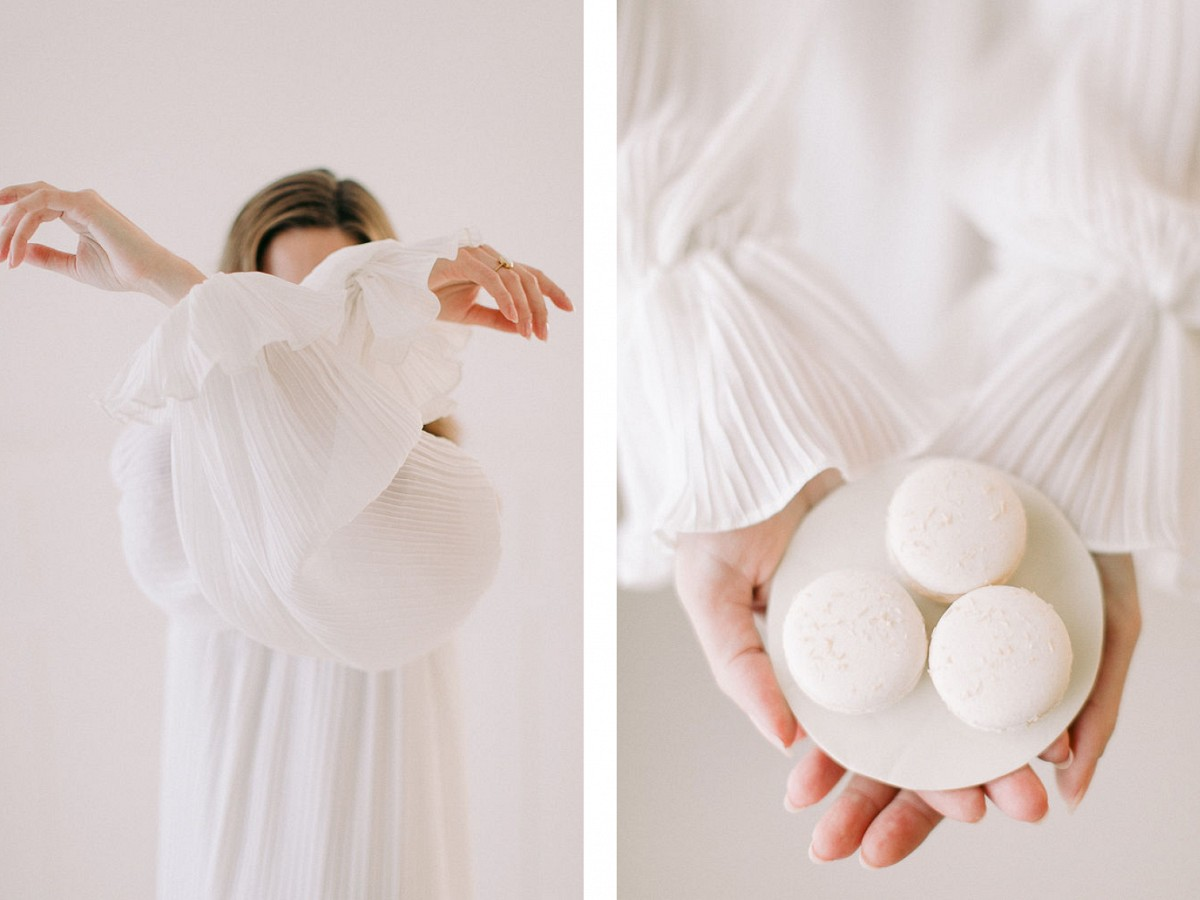 White on White Ethereal Editorial Shoot