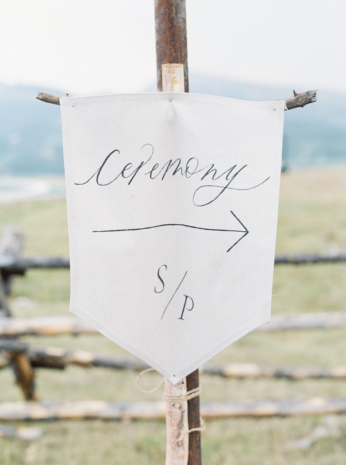 Epic Outdoor Big Sky Montana Wedding with Marchesa Gown