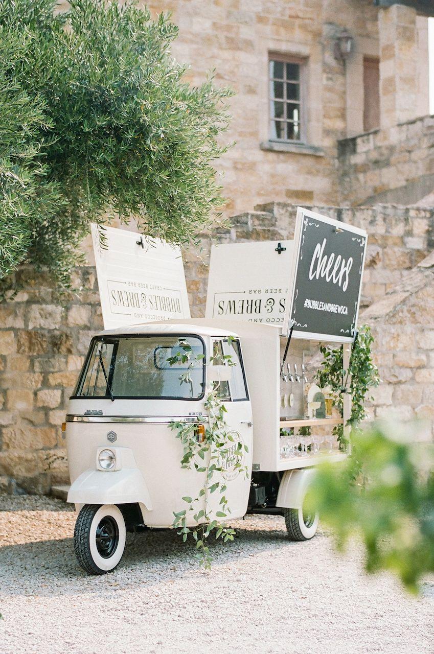 wedding champagne bar cart
