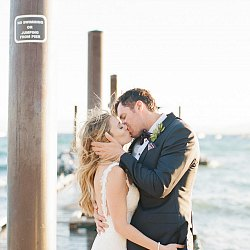 Windswept Lake Tahoe Real Wedding