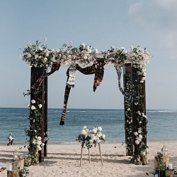 Outdoor Bali Beach Wedding with Traditional Details