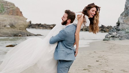 Misty Wedding on the California Coastline