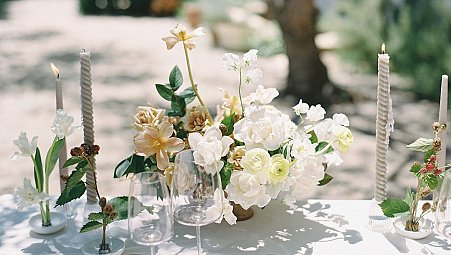 Gorgeous garden editorial with soft florals in Santa Barbara