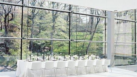 Clean Minimalist Museum Wedding Ideas