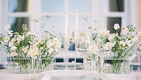 White on White Elegant Italian Villa Wedding Style