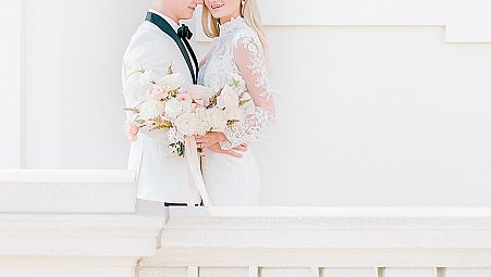 White Tie Summer Wedding Style with European Charm
