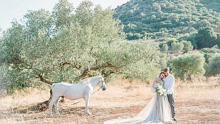 Summer in Greece - An Olive Grove Engagement Session