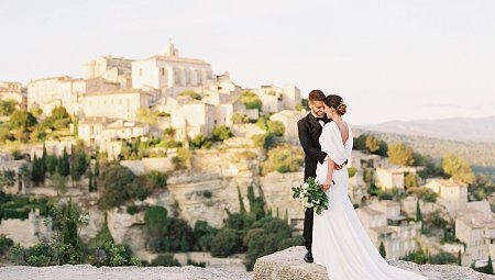 Golden Sunset in Gordes, Provence - Bridal Editorial