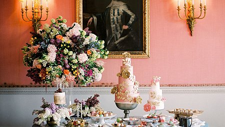 Opulent Gilded Wedding Ideas in an English Manor