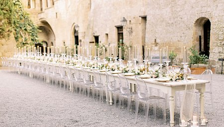 Minimalist La Badia Real Wedding