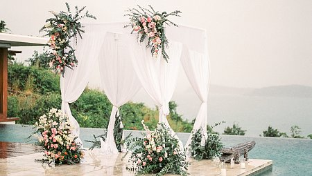 Thailand Destination Wedding in a Minimalistic Villa on Koh Samui Island