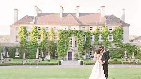 An Irish Manor House Wedding with Grey Bridesmaids Dresses
