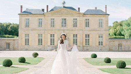 Romantic French Blue Chateau Wedding Ideas