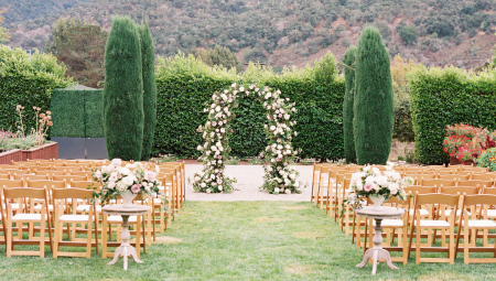 Blush Florals and a Ceremony Arch to Take Your Breath Away