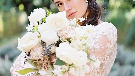Amalfi Coast Wedding Style with Monique Lhuillier Gowns