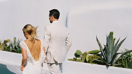 Bohemian Mykonos Wedding with Clifftop Ceremony