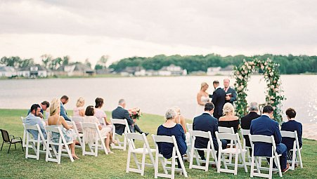 Surprise Wedding at the Coast with Bold Florals
