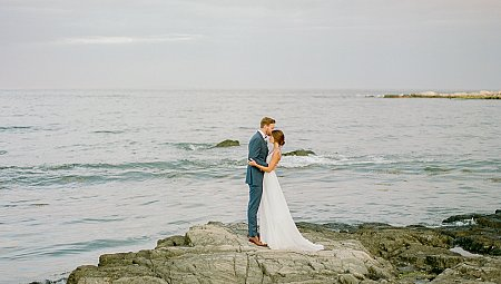Chic Coastal New England Real Wedding