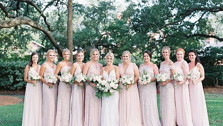 CHARLESTON PLANTATION WEDDING WITH BLUSH BRIDESMAIDS